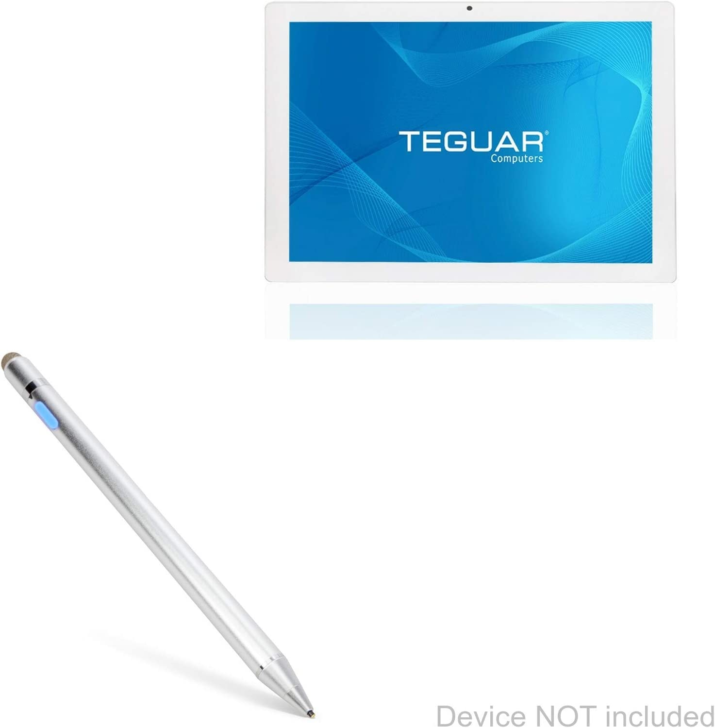BoxWave Teguar TP-4040-22M Stylus Pen Metallic Silver Electronic Stylus with Ultra Fine Tip for Teguar TP-4040-22M AccuPoint Active Stylus