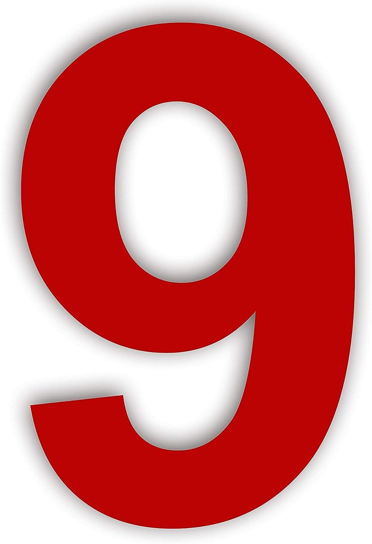 Geb/ürsteter Edelstahl,Ziffern /& Buchstaben,H/öhe:20.5cm //8 8in Ziffer 0 nanly Moderne Hausnummer aus ROT