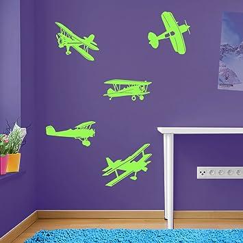 Avion Avion Avion Lot de fenêtre de décoration murale Stickers ...