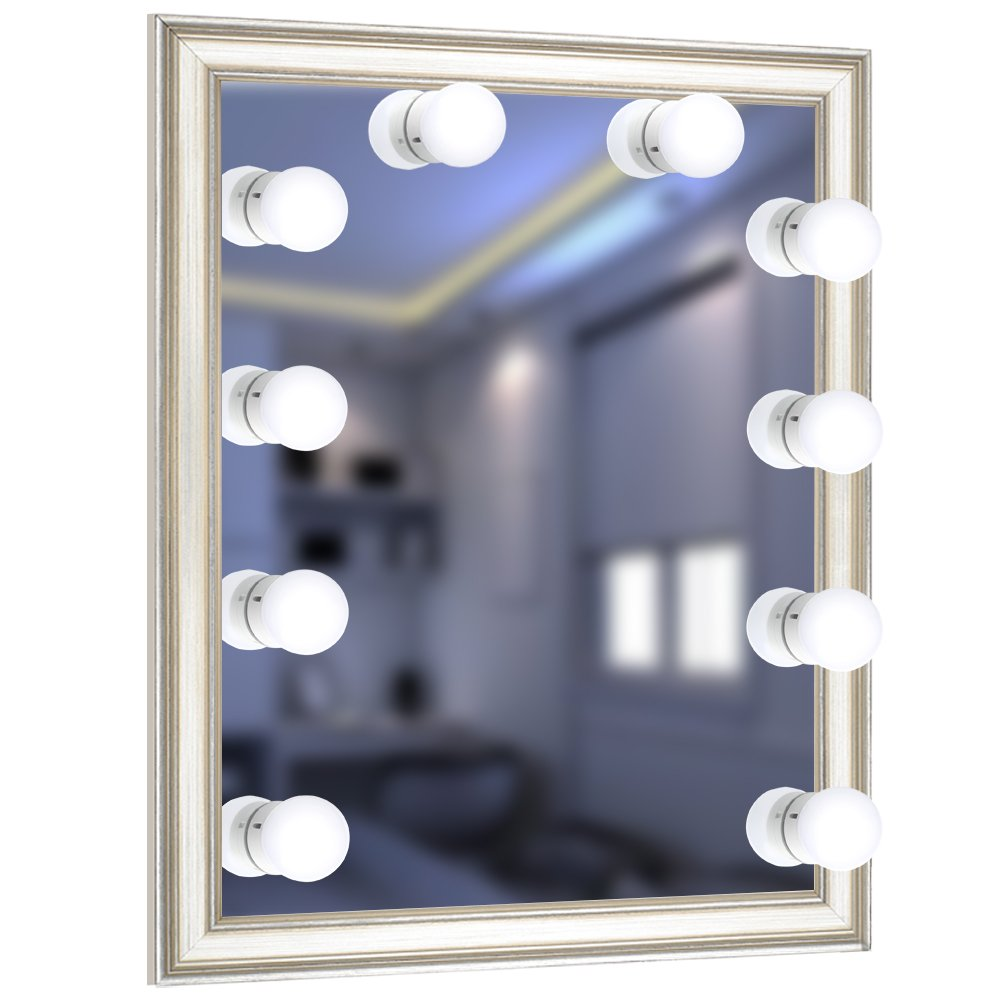 URPOWER Vanity Lights, 16.4ft/5m 10LED Bulbs Hollywood Style LED Vanity Mirror Lights USB Powered Make-upLights for Vanity Mirror with Dimmable White Lights for Makeup Mirror, Mirror Not Include