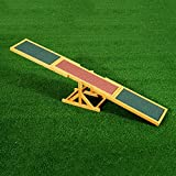 PawHut Wood Pet Seesaw Platform Dog Agility Training Equipment Run Game Toy Weather Resistant Pet Supplies
