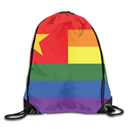 14114bf3cd49 Amazon.com  PengMin Rainbow Flag Vietnam Drawstring Bag for ...