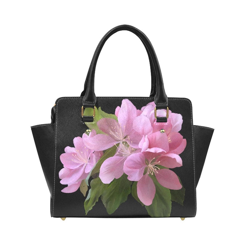 Interestprint Custom Pink Blossom Branch, watercolors Classic Women Top Handbag Shoulder Bag