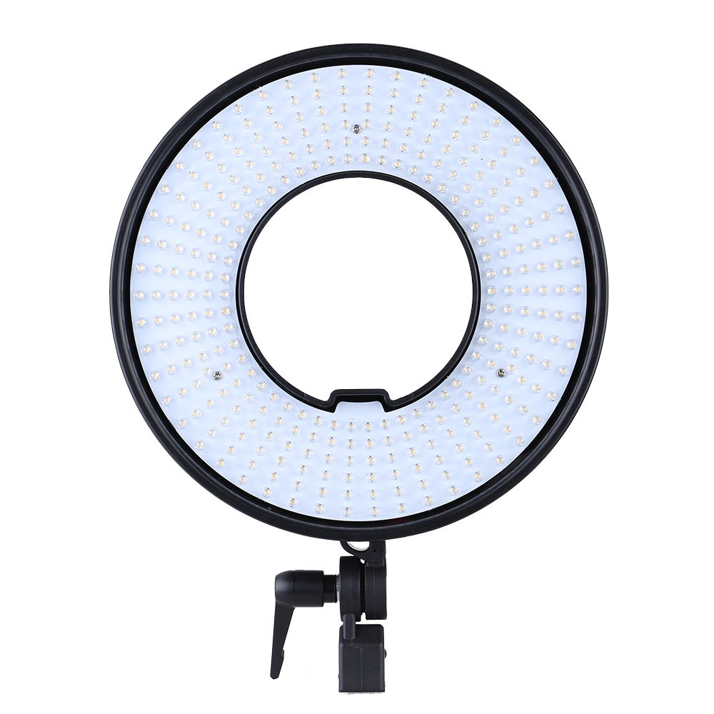 Andoer 300pcs Ring LED Light for Camera Panel Lights Video Lamp CRI 95+ Dual Color Temperature 3000K-7000K Adjustable Studio Outdoor Video Camera Photography Lighting Kit