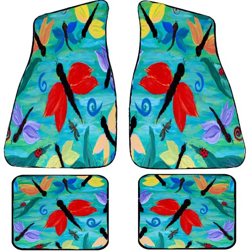 Dragon Flies and Lady Bugs Art Auto Car Floor Mat Sets by xmarc (Image #1)