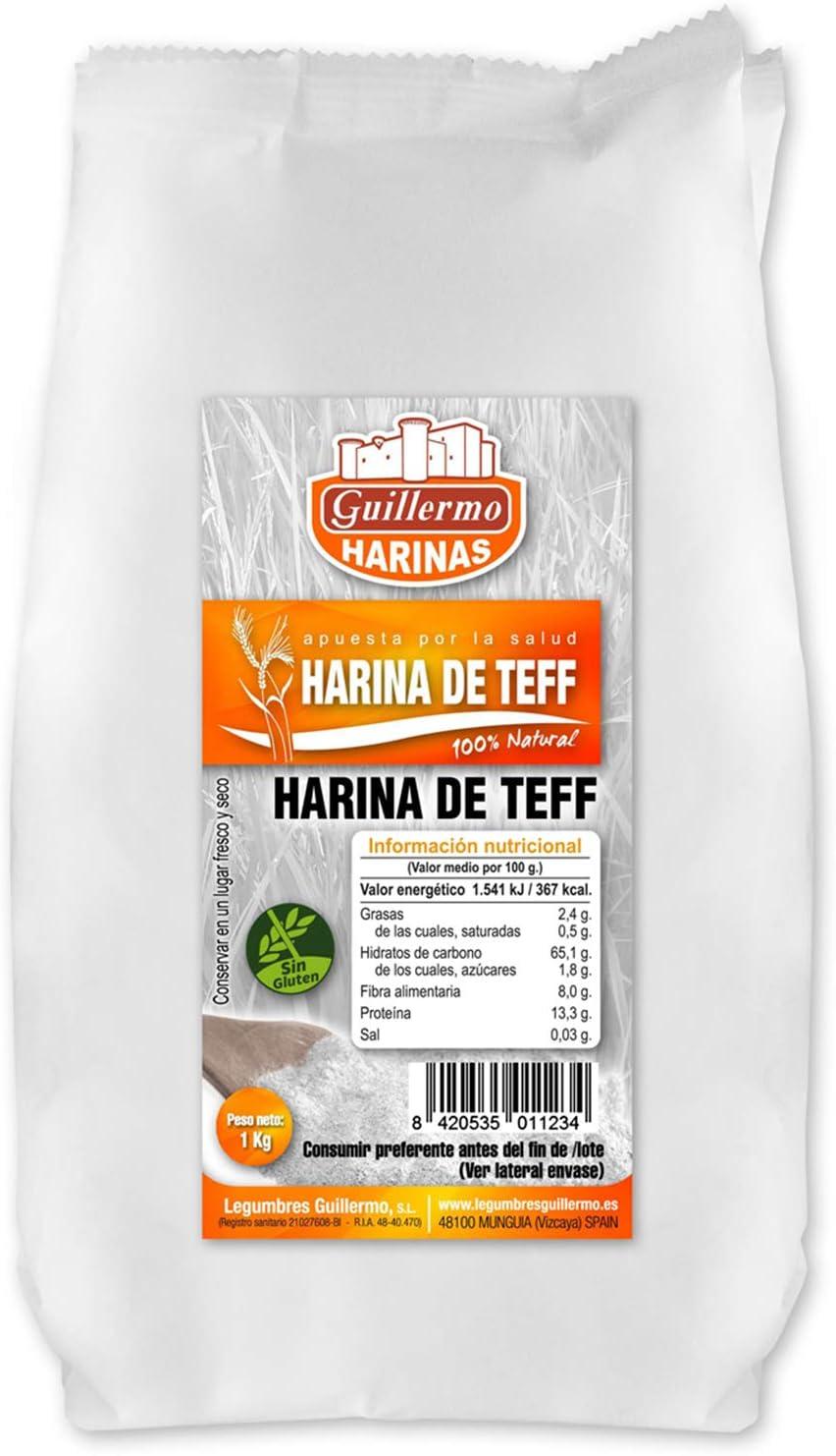 Guillermo Harina de Teff 100% Natural (Pack 3) 1Kg: Amazon.es ...