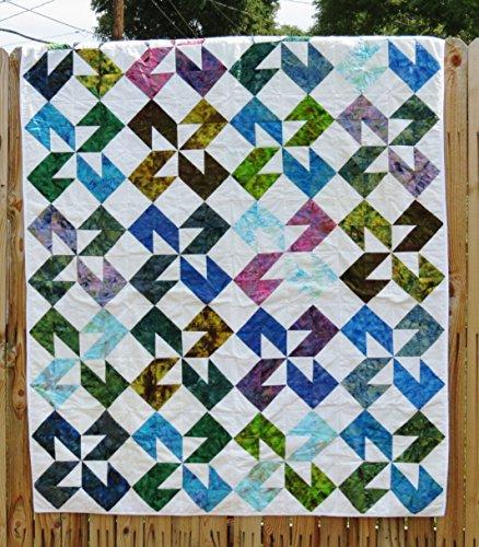 (Batik Multi Color Handamde Twin Size Colorado Quilt)