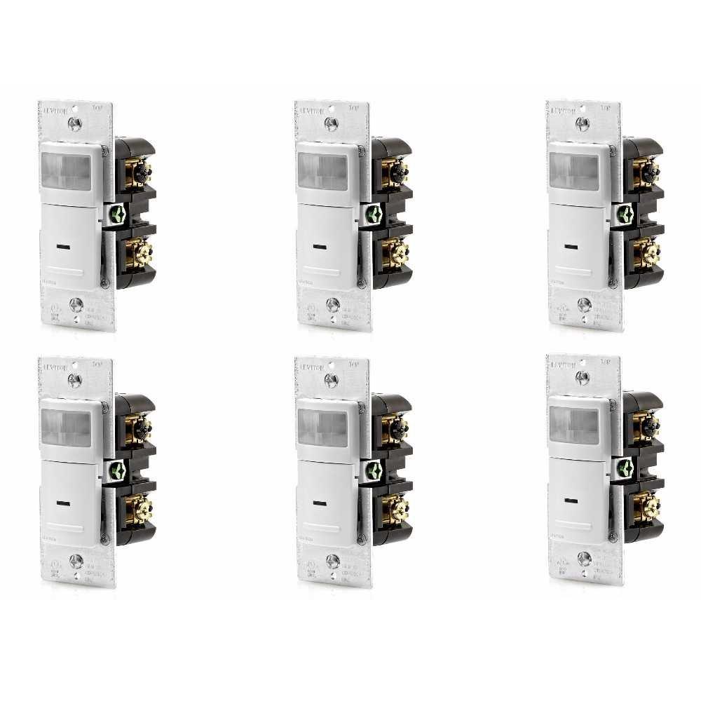 Leviton ips06 – 1lw 600-watt白熱、150ワットLED占有センサー(6パック) B07DWQKSH7