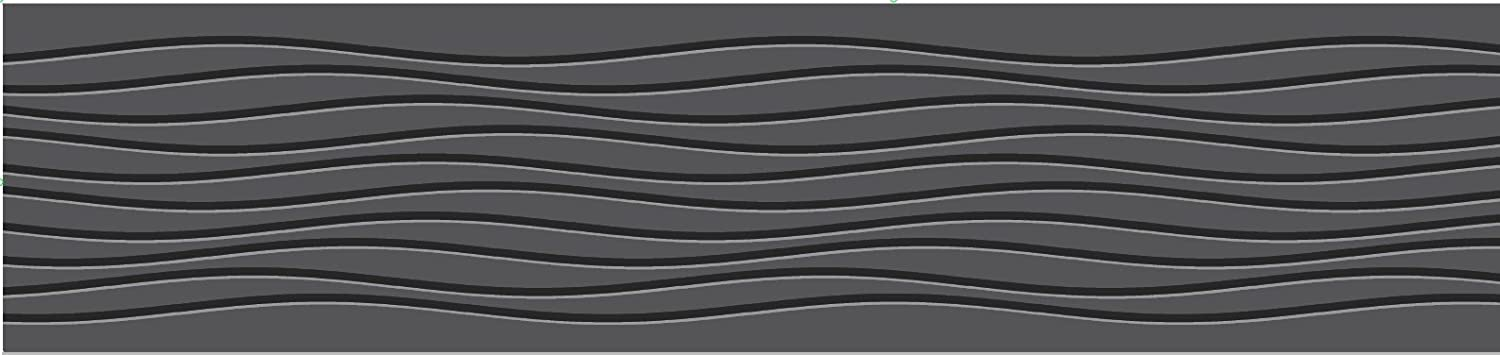 Fine Decor 125 mm Contemporary Wave Border, Black FDB07516S