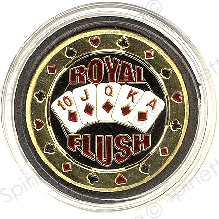 (Royal Flush Diamonds Gold Poker Card Guard)