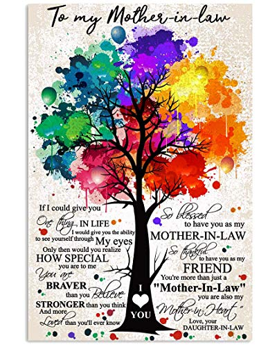 TO MY MOTHER-IN-LAW Canves Pictures Costum Canvas Personalized -