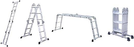 Escalera aluminio trabajo (4 x 3 Articulación Escalera escalera multifunción Escalera ángulo de niveles – Escalera escalera: Amazon.es: Hogar