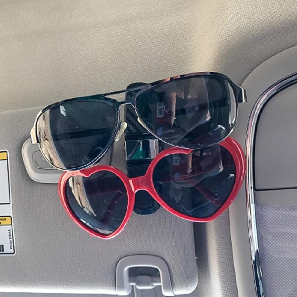 SENZEAL Sonnenschutz-Clip 2 St/ück Clip f/ür Sonnenbrillen Auto Sonnenblende Sonnenblende Brillenrahmen mit Clip f/ür Kohlefaserkarten