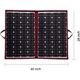 DOKIO 100 Watts 12 Volts Monocrystalline foldable Solar Panel with Charge Controller
