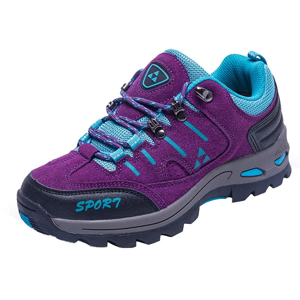 Women Shoes,Clearance Sale!!Farjing Men and Women Outdoor Casual Lace-up Comfortable Running Mountaineering Shoes(US:6.5,Purple )