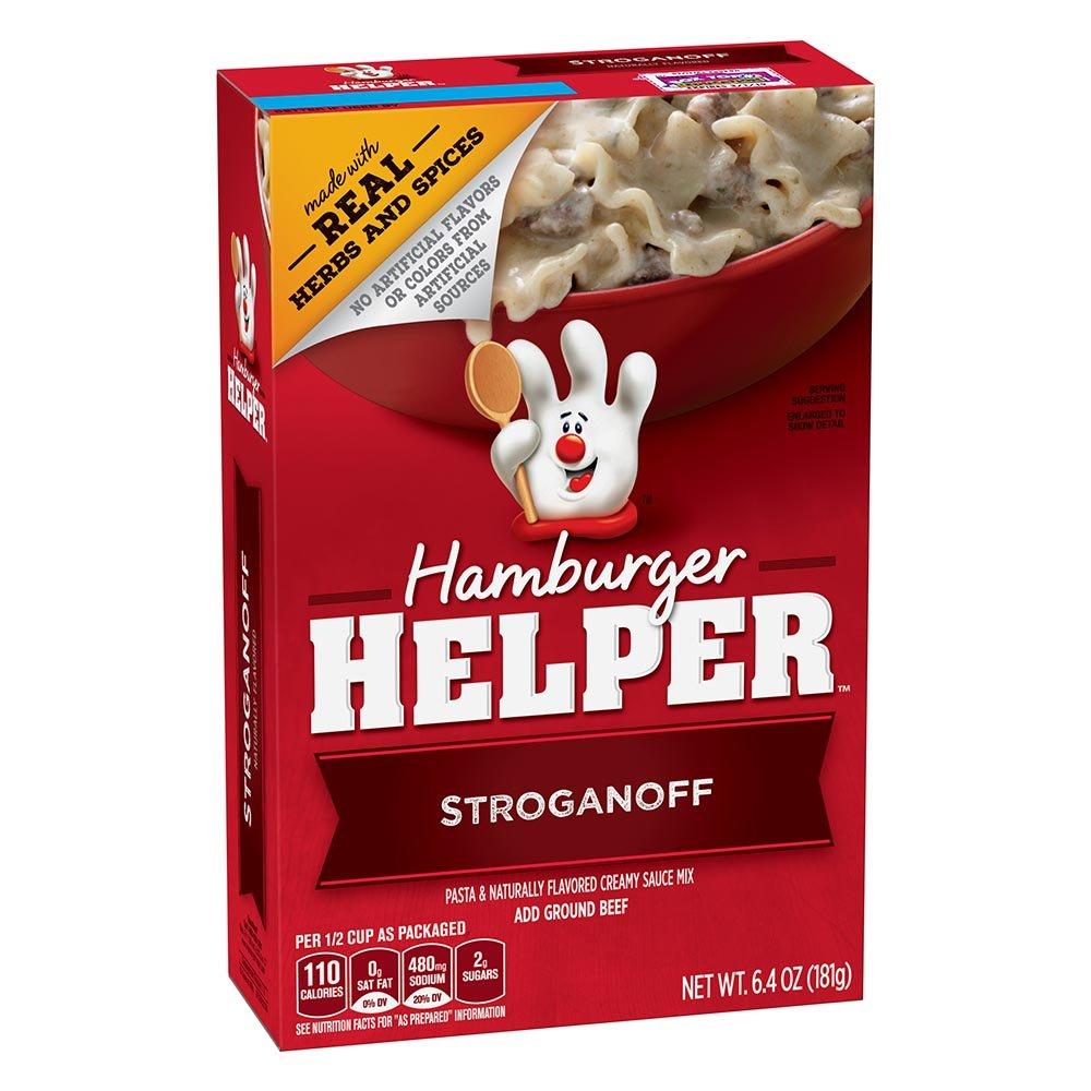 Betty Crocker Hamburger Helper, Stroganoff Hamburger Helper, 6.4 Oz Box