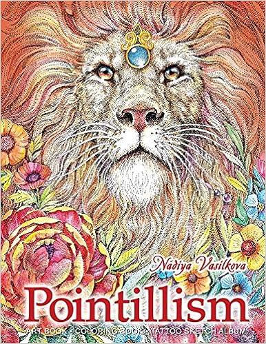 Amazon Com Pointillism Art Book Coloring Book Tattoo Sketch
