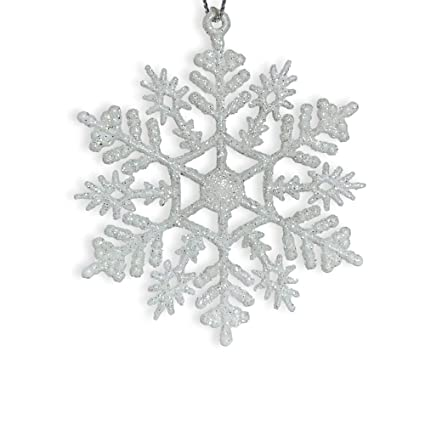 BANBERRY DESIGNS Snowflake Ornaments - Pack of 24 White Glitter Snowflakes  - Shatterproof Snowflakes Painted White - Amazon.com: BANBERRY DESIGNS Snowflake Ornaments - Pack Of 24 White