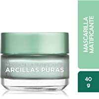 Mascarilla matificante, Arcillas Puras, L'Oréal Paris, 40 ml