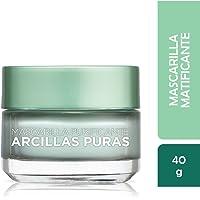 Mascarilla matificante, Arcillas Puras, L'Oréal Paris, 40 g