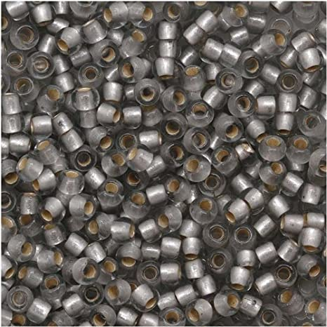 Silver Lined Frosted Black Diamond TOHO Round Seed Beads All Sizes #29AF