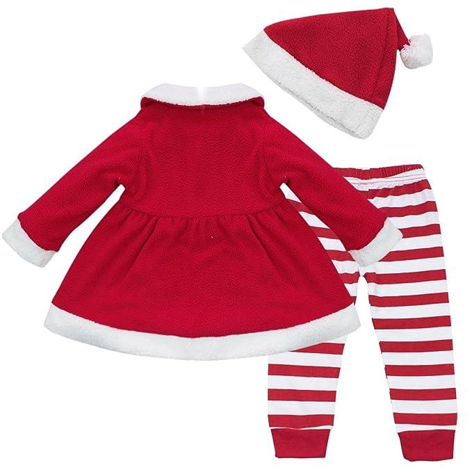 Amazon Com Yizyif Baby Girls Christmas Santa Claus Dress Leggings