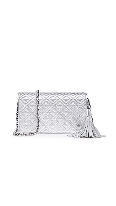 85d177e29ac Tory Burch Women s Fleming Metallic Flat Wallet Crossbody Bag ...