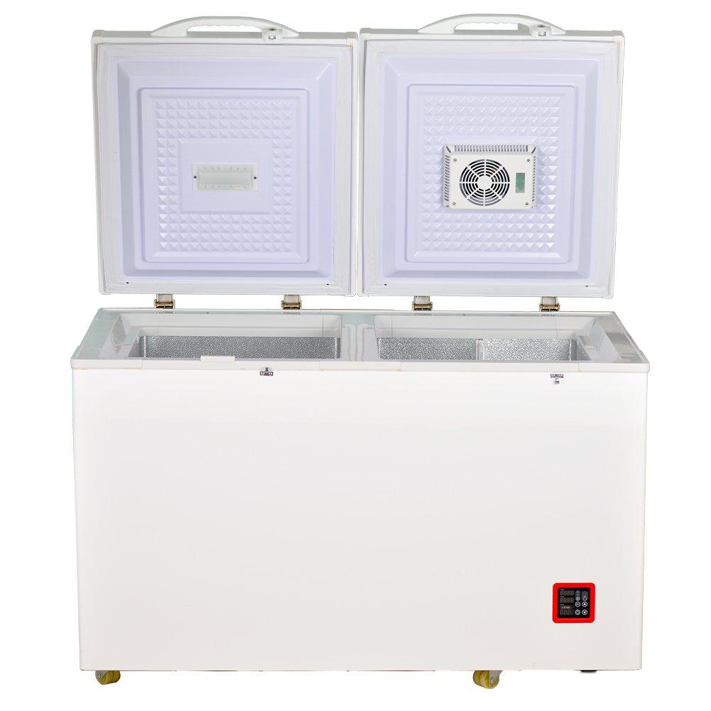 Smad 7.5 Cu.ft Solar Energy DC Refrigerator/Freezer Double Door Compressor Fridge