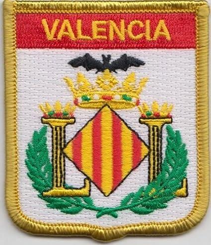 Amazon.com: Valencia España bordado, diseño de bandera de ...