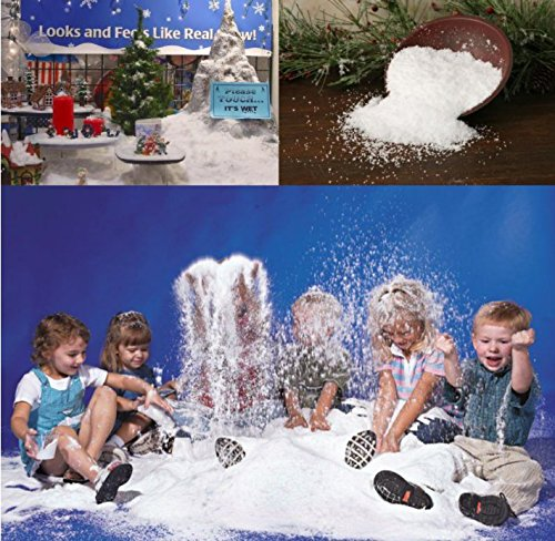 WarmShine 20 Pack Instant Snow Powder SAP Magic Snow Reusable DIY Artificial Slime Simulation Snow Home Ornament Party Decoration by WarmShine (Image #8)