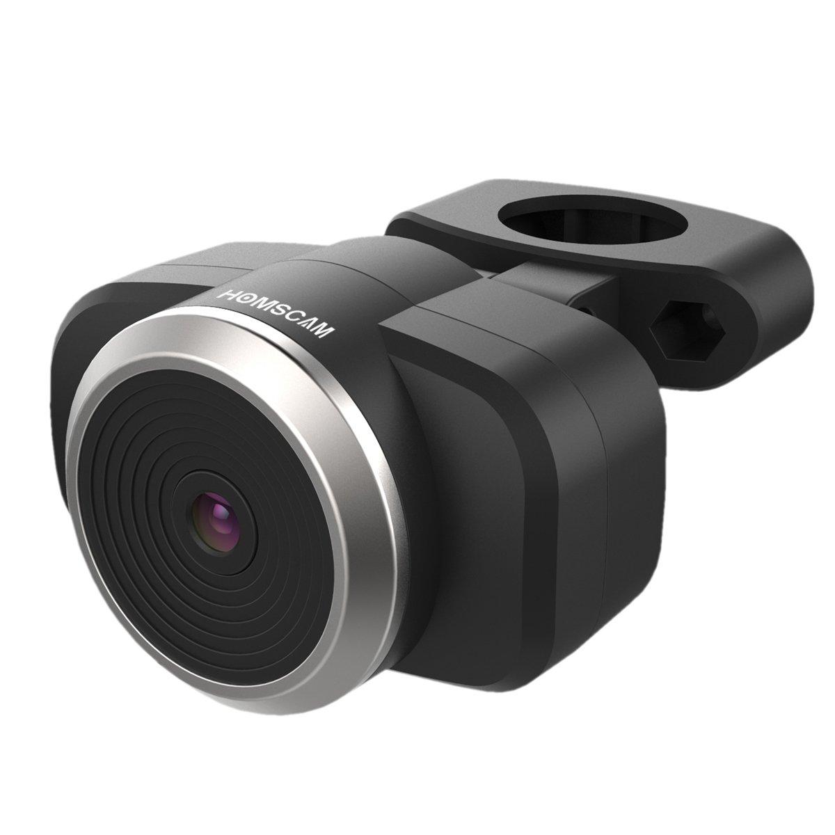 Homscam Caméra de recul Wifi Caméra de vélo Bicyclette électronique sans fil Surveillance de vélo Caméra de sécurité pour système IOS et Android, visionnement large pour tous les types de vélos, rechargeable et imperméable à l'eau