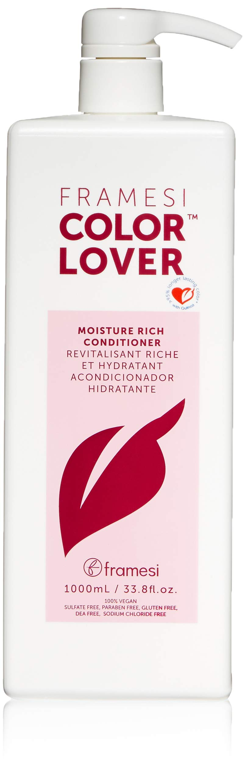 Framesi Color Lover Moisture Rich Conditioner - 33.8 Ounce, Hydrating Conditioner, Color Safe, Moisturizing Conditioner, Vegan, Gluten Free, Cruelty Free