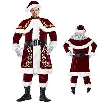 Gsdzn Männerfrauen Deluxe Velour Sankt Klage Santa Claus Kostüm