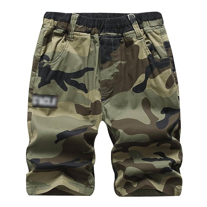 salvare d004b db4da Lau's Pantaloncini mimetici ragazzi - Pantaloncino bambini - Pantaloni  corti bambino con tasconi