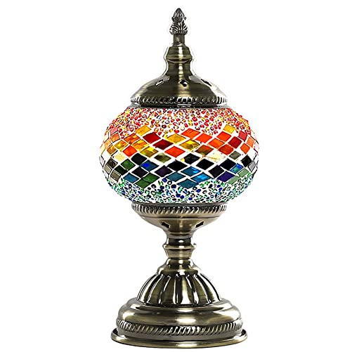 Turkish Lamp NBHUZEHUA Vintage Stained Glass Moroccan Style Mosaic Table Room Christmas Decoration