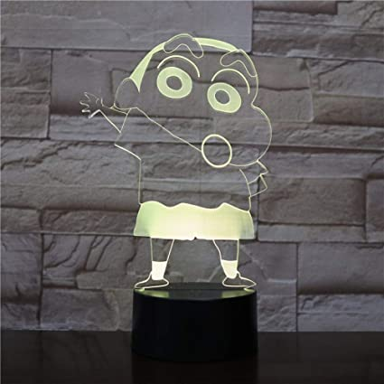 KangYD Luz 3D /Crayon Shin Chan 3D Night Light Led Niños ...