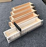 Adjustable Wood Soap Loaf Molds Lot of 4 and Multi Slot Soap Cutter 4 - 5 lbs each Outlasts Silicone