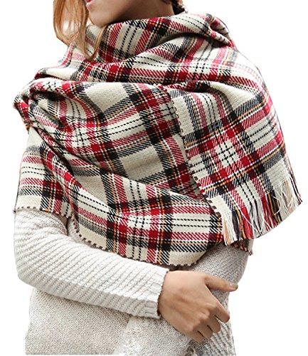 MOLERANI Womens Tassels Tartan Blanket product image