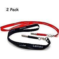 Laimew Silbato de Entrenamiento de Perros, Silbato de ultrasonidos de Alta Flauta de Alta frecuencia con Frecuencias Ajustables para Entrenamiento de Perros y Control de descortezos (Negro+Rojo)