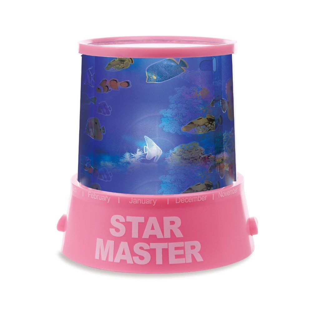 Pink Children LED Underwater World Projection Lamp Projector Night Light Kids GIF