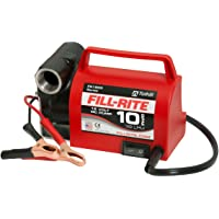 "Fill-Rite FR1612 Portable Diesel Fuel Transfer Pump - 12 V DC, 10 GPM, 1/5 HP, 3/4"" NPT Inlet, No Nozzle"