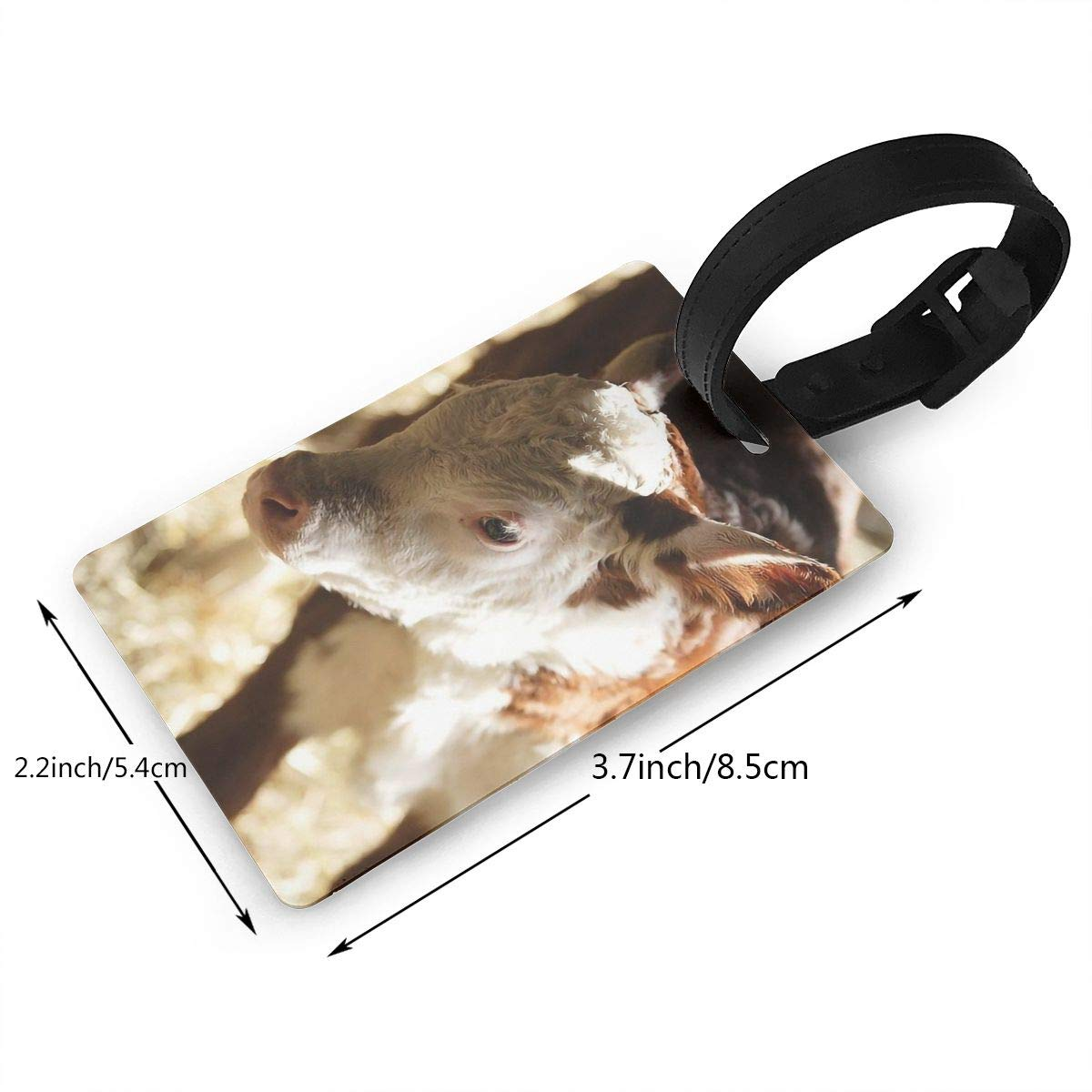 2 Pack Luggage Tags Cow Handbag Tag For Travel Bag Suitcase Accessories