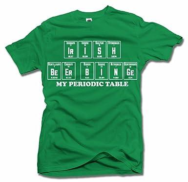 Amazon Irish Beer Binge My Periodic Table Irish Green Mens Tee