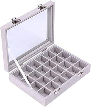 Juanya Joyero Organizador Caja de almacenamineto Franela para joyerias Anillos Pulsera Collar Pendientes(Gris): Amazon.es: Juguetes y juegos