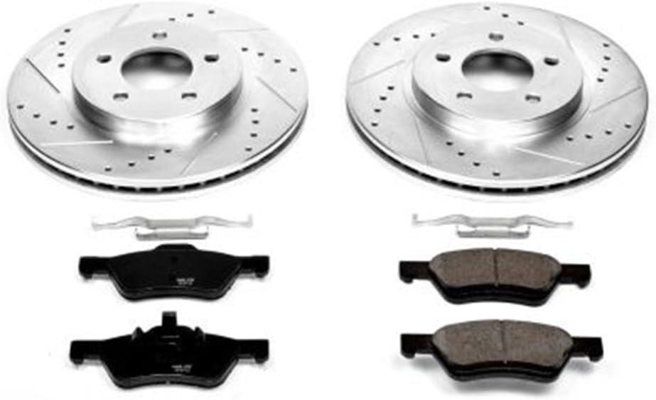 8 Ceramic Pads 4 Cross-Drilled Disc Brake Rotors 5lug Fits:- TL High-End Front+Rear Kit