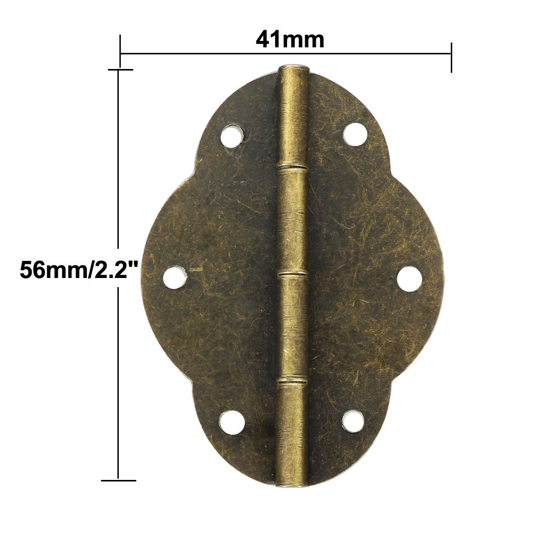 sourcing map 2 couleur bronze antique Rechange Charni/ères Retro avec vis 10pcs