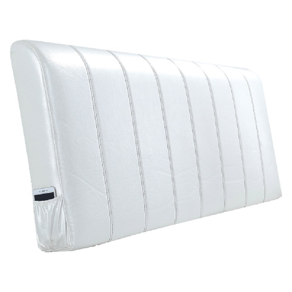 HAIPENG クッション ベッドの背もたれ なし ヘッドボード ベッド バックレスト クッション 枕 ベッドサイド カバー 布張り 腰椎 パッド ヘッドレスト ソファー 柔らかい 快適、 5色、 マルチサイズ (色 : 白, サイズ さいず : 120x10x58cm) B07F58K13S 120x10x58cm 白 白 120x10x58cm