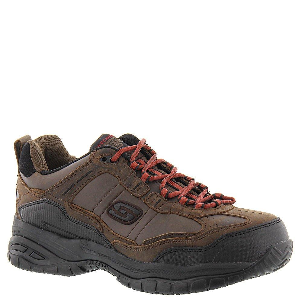 Skechers Work Men's Soft Stride - constructer 2 Chocolate Sneaker 9.5 4E - Extra Wide