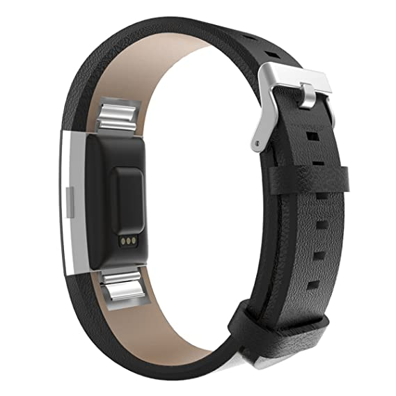 Bonstrap for Fitbit Charge 2 Bands Smartwatch for Fitbit Bands Charge 2  Genuine Leather Replacement Wristband