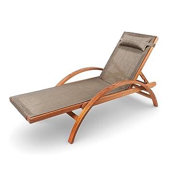 Sonnenliege klappbar holz  Amazon.de: Liegestuhl Caribic | verstellbare Rückenlehne | 100 ...